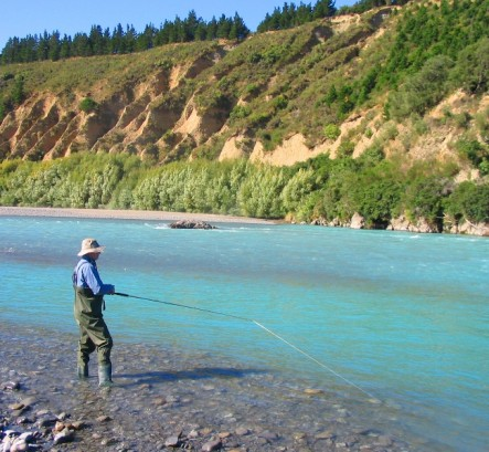 Up river fishing on the Waimakariri River