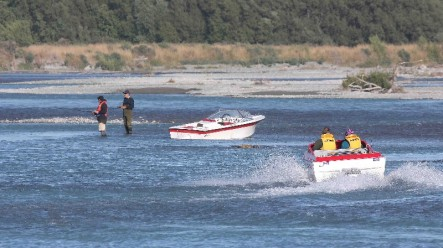 Jet boating on the Rakaia River